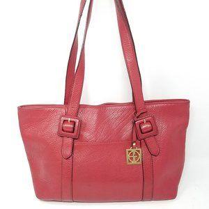 Giani Bernini bag red pebbled leather shoulder